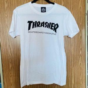 Thrasher White Tee